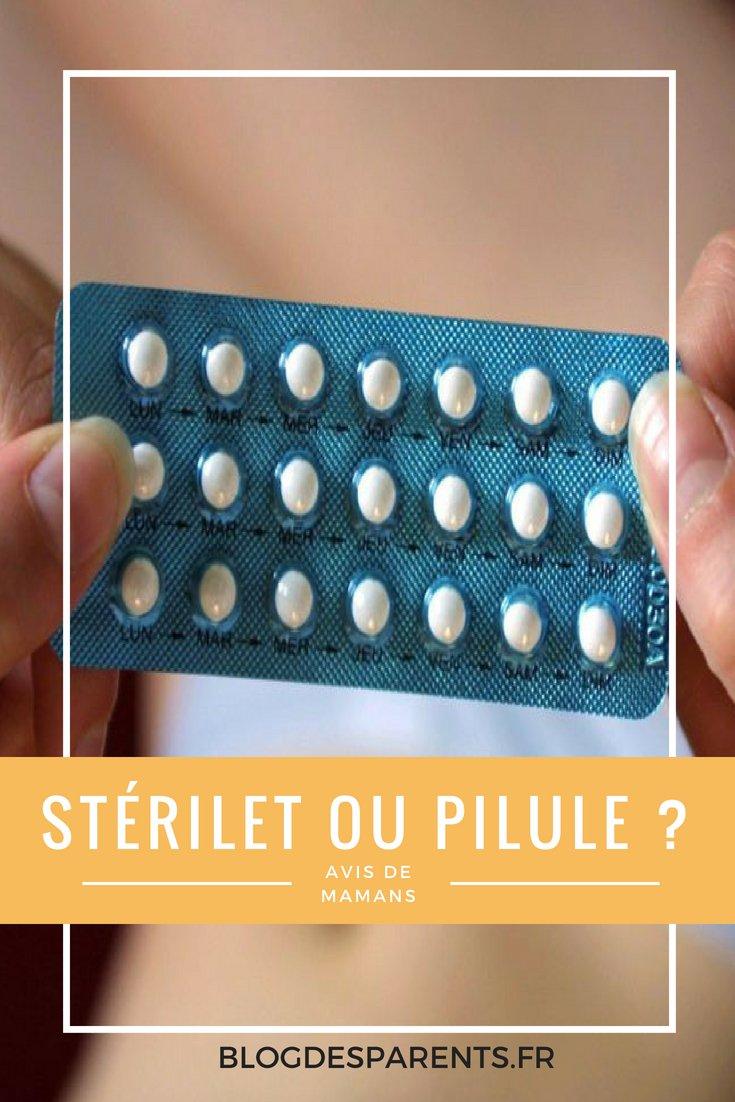 sterilet ou pilule